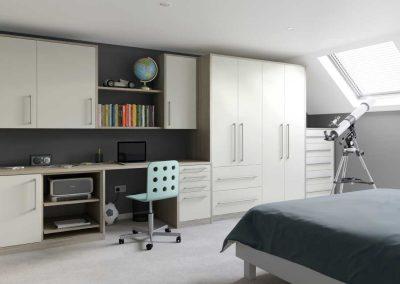 Locano Urban Oak - White - Fitted Bedroom Furniture