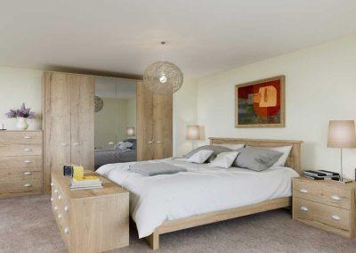 Textura Halifax Oak - fitted bedroom furniture