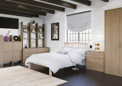 Textura Sand Oak - fitted bedroom furniture
