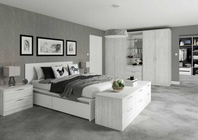 Textura Whitewood - fitted bedroom furniture